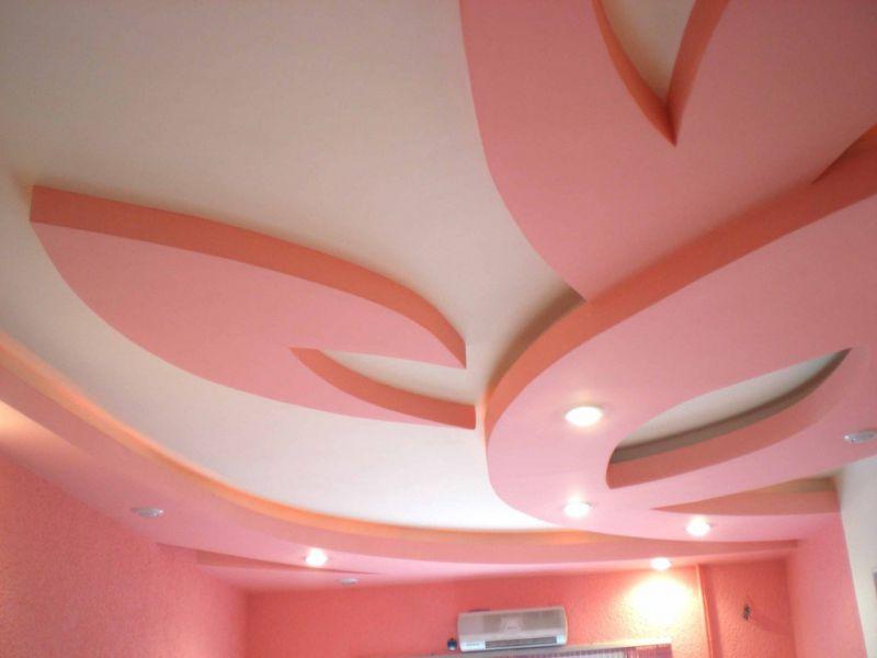 Варианты дизайн потолков из гипсокартона