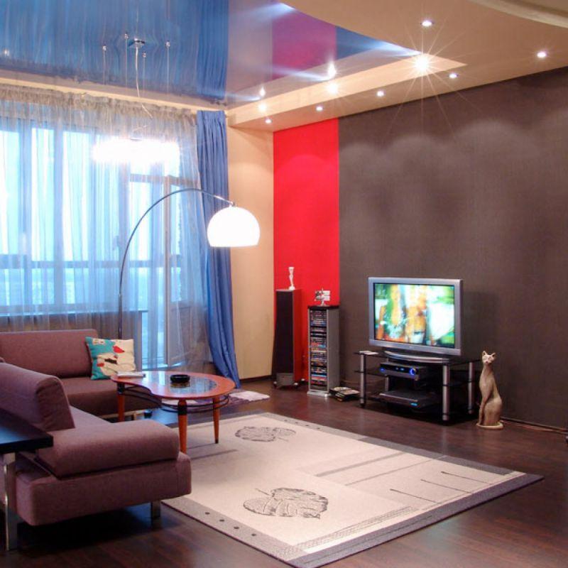 Дизайн потолков: Дизайн натяжных потолков кухня, коридор, фото