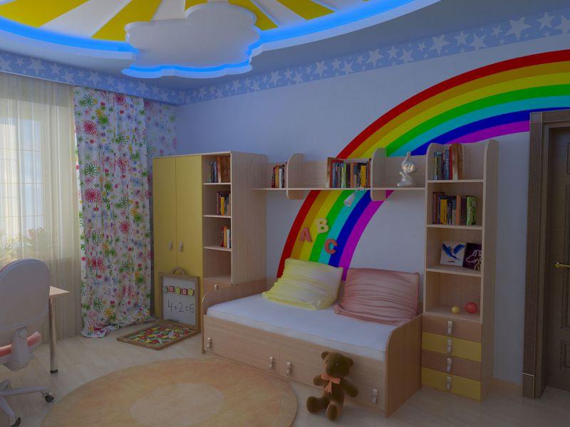 Потолки своими руками для детской комнаты